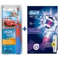 Детская зубная щетка Oral-B Stages Frozen/Star Wars + Pro 750 Black + Pro 700 Pink 6 насадок