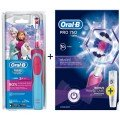 Детская зубная щетка Oral-B Stages Frozen/Star Wars + Pro 750 Black + Pro 750 Pink 6 насадок