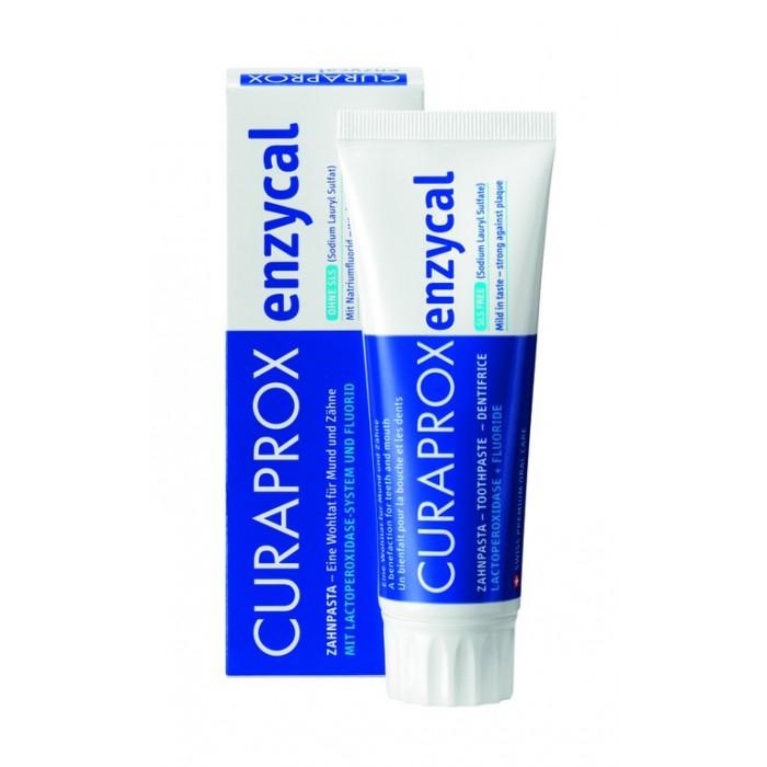Зубная паста профессиональная Enzycal 950 с содержанием фтора, Curaprox, 75 мл.