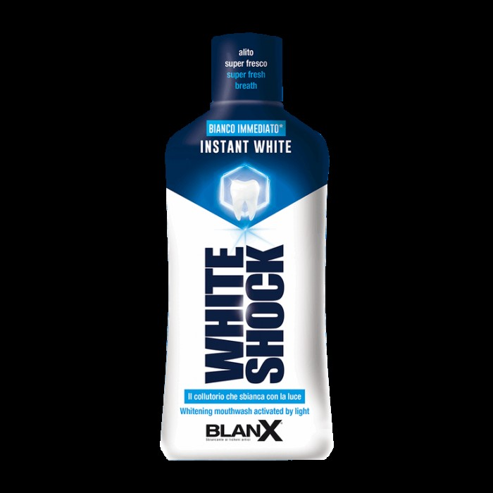 Ополаскиватель с отбеливающим эффектом тройного действия White Shock Mouthwash, BlanX, 500 мл.