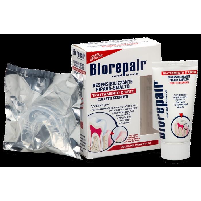 Средство для снижения чувствительности зубов и восстановления эмали обнаженной шейки зуба с каппой, Biorepair, 50 мл.