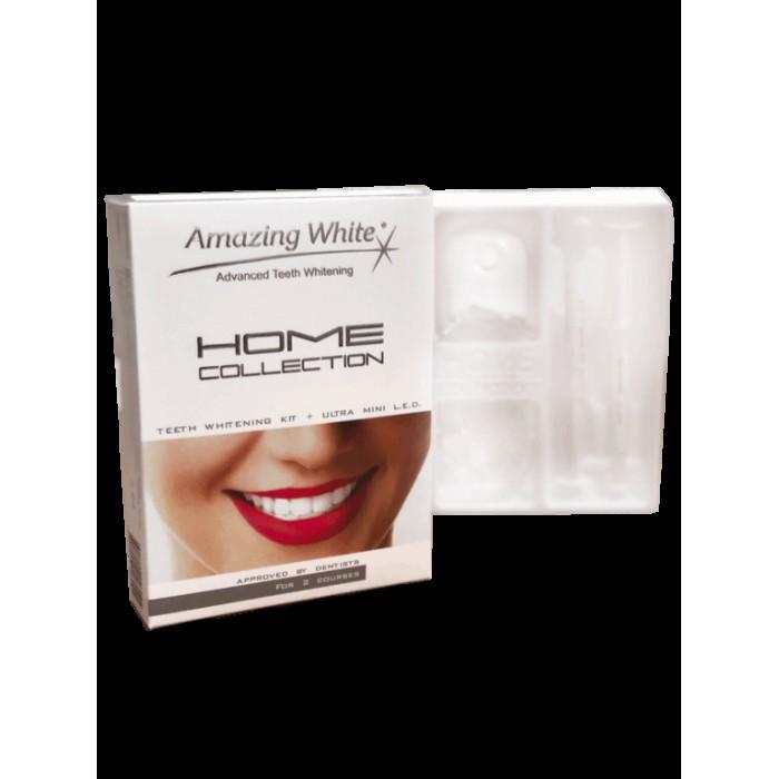 Набор для домашнего отбеливания зубов HOME COLLECTION с мини LED лампой, Amazing White