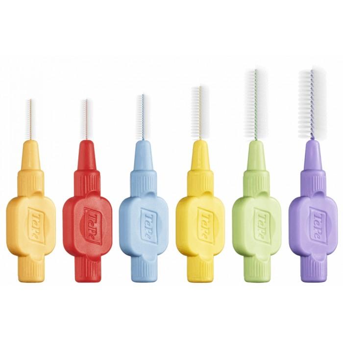 Набор ершиков межзубных от 0,4 до 1,1 мм, с мягкой щетиной X-Soft Mix, TePe, 6 шт.