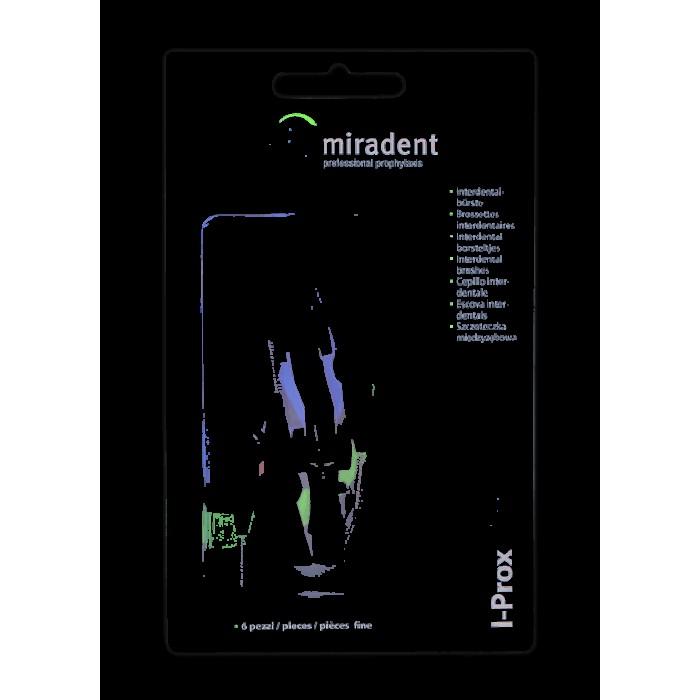 Ершики межзубные I-Prox chx fine Ø0,7 мм, цилиндрической формы, белые, Miradent, 6 шт.