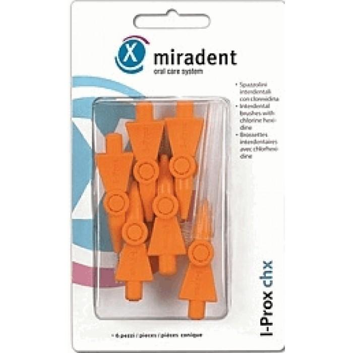 Ершики межзубные I-Prox chx conical Ø0,8 мм, конической формы, оранжевые, Miradent, 6 шт.
