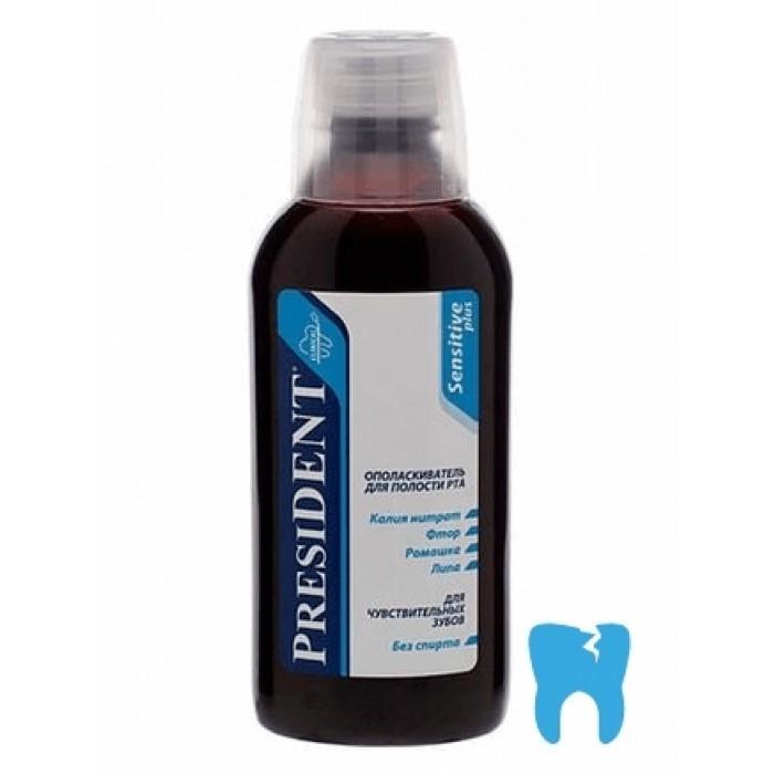 Ополаскиватель для полости рта для чувствительных зубов Sensitive Plus, PresiDENT, 250 мл.