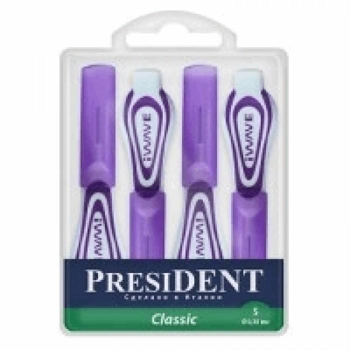 Ершики межзубные 0,3 мм, фиолетовые Classic S, PresiDENT, 4 шт.