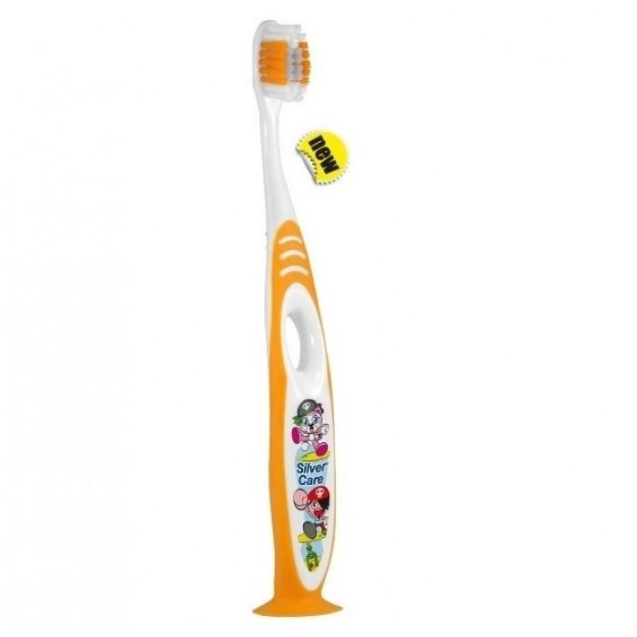 Детская зубная щетка Kids на подставке от 2-х до 6-ти лет, Silver Care.