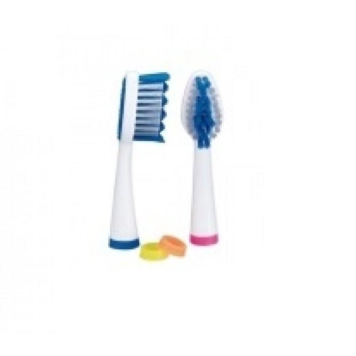 Набор сменных насадок для звуковой зубной щетки Prosonic Micro 2, Miradent, 2 шт.
