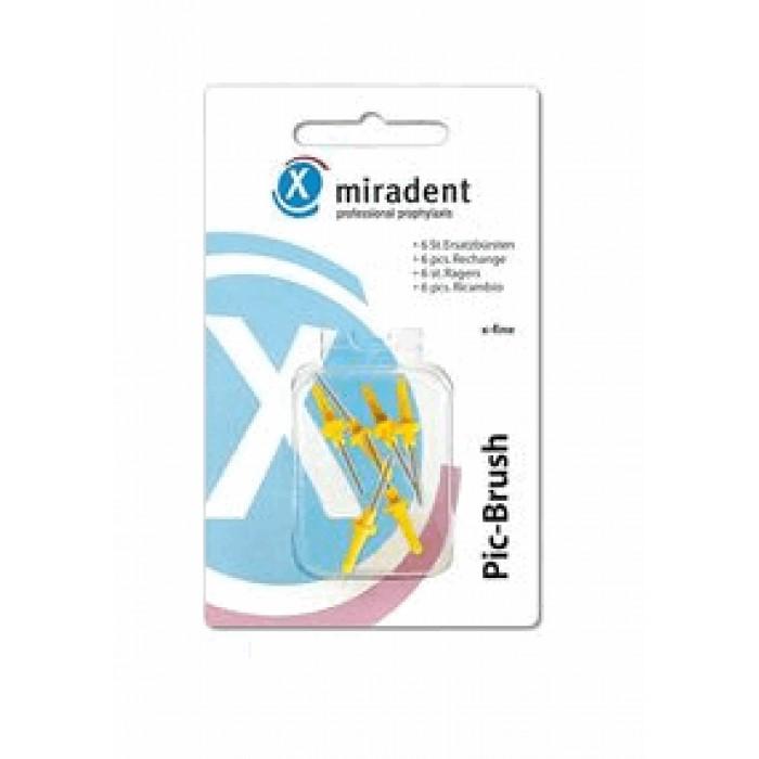 Ершики межзубные 1,5 мм, желтые к ручке-держателю Pic-Brush, Miradent, 6 шт.