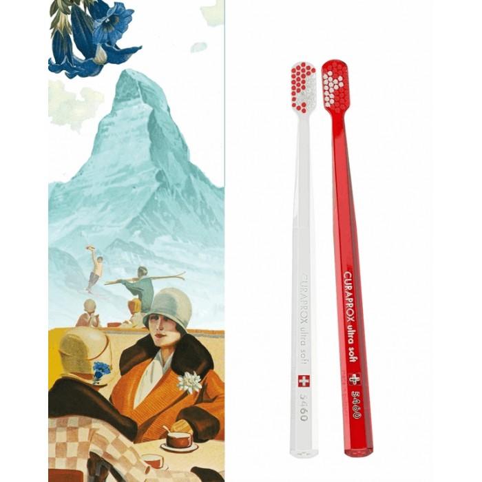 Набор Duo Swiss из зубных щеток CS 5460 Ultra Soft, диаметр щетинок 0,10 мм, Curaprox, 2 шт.