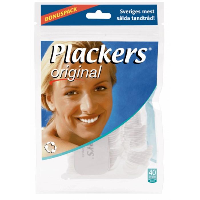 Флоссер Plackers Original с запатентованной нитью Tuffloss, Plackers, 40 шт.