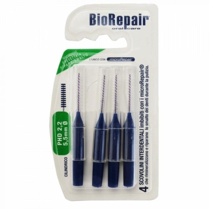 Ершики межзубные PHD 2,2 мм, Ø 5,5 мм, цилиндрические, Biorepair, 4 шт.