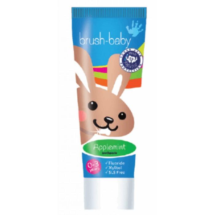 Детская зубная паста от 0-ля до 3-х лет с яблочно-мятным вкусом, Brush-Baby, 50 мл.