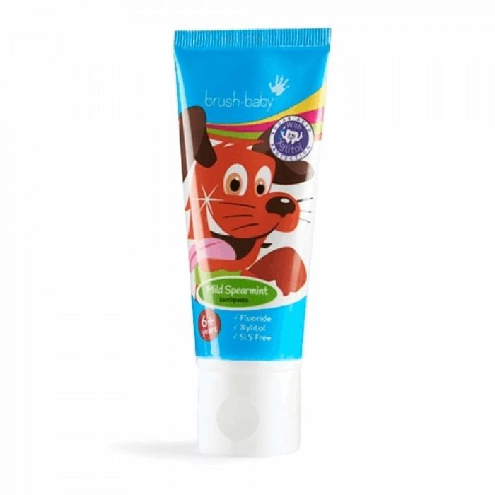 Детская зубная паста с 6-ти лет со вкусом перечной мяты, Brush-Baby, 50 мл.