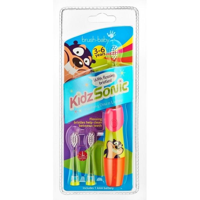 Детская электрическая звуковая зубная щетка KidzSonic, от 3-х до 6-ти лет, Brush-Baby.