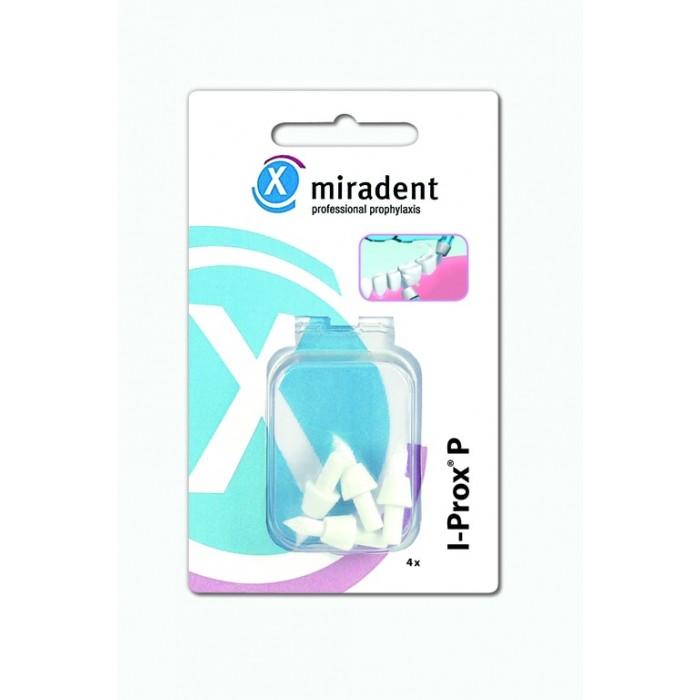 Набор запасных насадок-щеточек для монопучковой зубной щетки I-Prox P, Miradent, 4 шт.