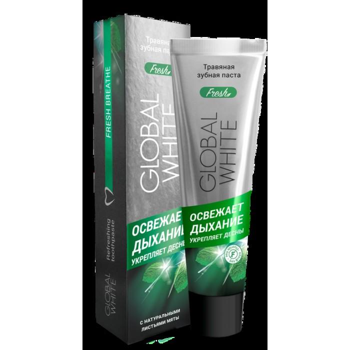 Зубная паста травяная освежающая, Global White, 100 мл.