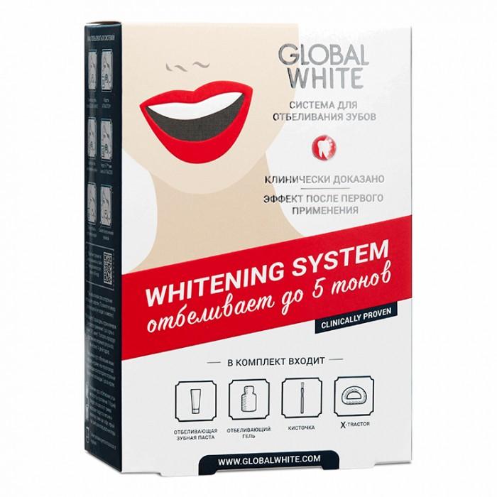 Система интенсивного отбеливания зубов в домашних условиях 6%, Global White.