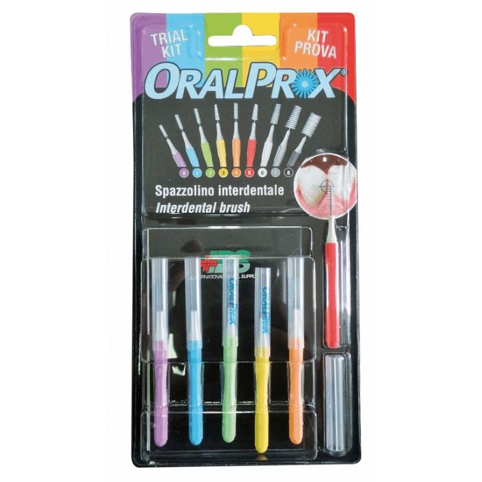 Набор ершиков межзубных 0,32-0,53 мм, конические и цилиндрические, OralProx Mix, Dr. Care, 6 шт.