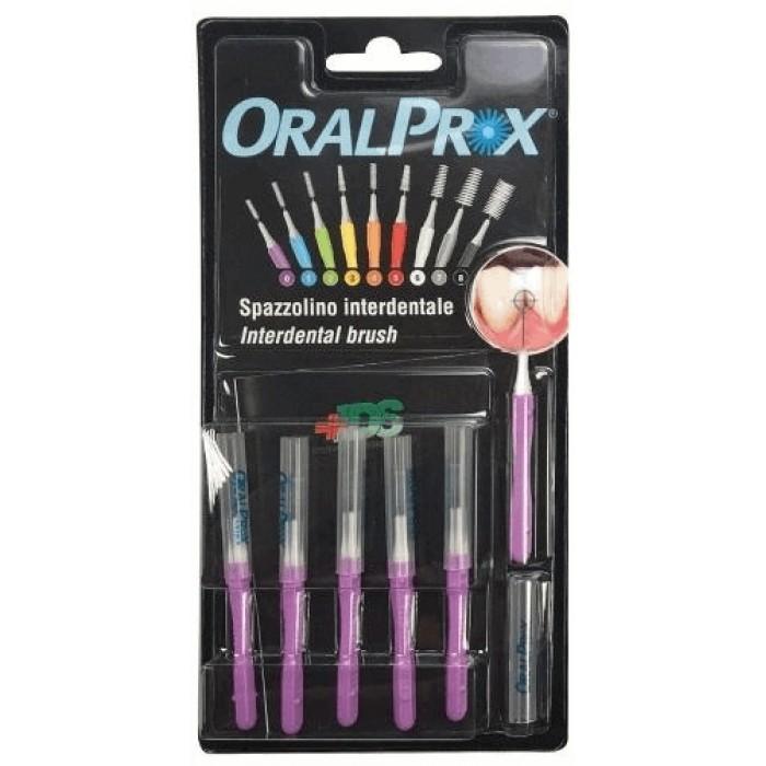 Ершики межзубные 0,32 мм (Ø стержня), 2,00 мм (Ø ершика), цилиндрические, фиолетовые, OralProx, Dr. Care, 6 шт.