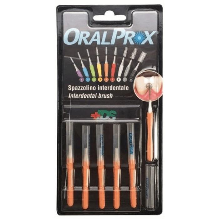 Ершики межзубные 0,47 мм (Ø стержня), от 2,60 мм до 2,80 мм (Ø ершика), конусообразные, оранжевые, OralProx, Dr. Care, 6 шт.