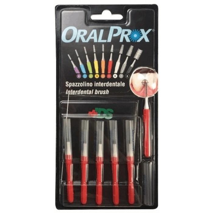 Ершики межзубные 0,53 мм (Ø стержня) , от 2,60 мм до 3,80 мм (Ø ершика), конусообразные, красные, OralProx, Dr. Care, 6 шт.