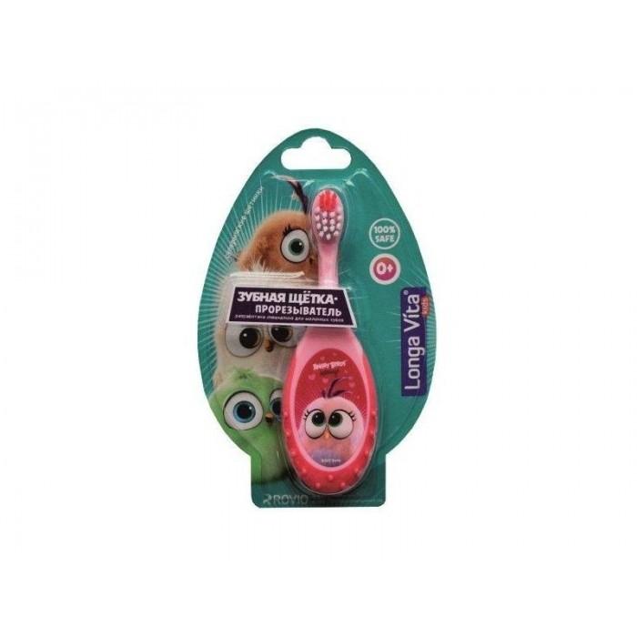 Детская зубная щетка-прорезыватель Angry Birds Hatchilings от 0 лет, Longa Vita.