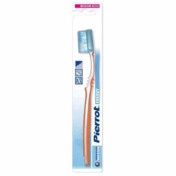 Зубная щетка для лечения пародонтоза Energy Medium, средней жесткости, Pierrot.