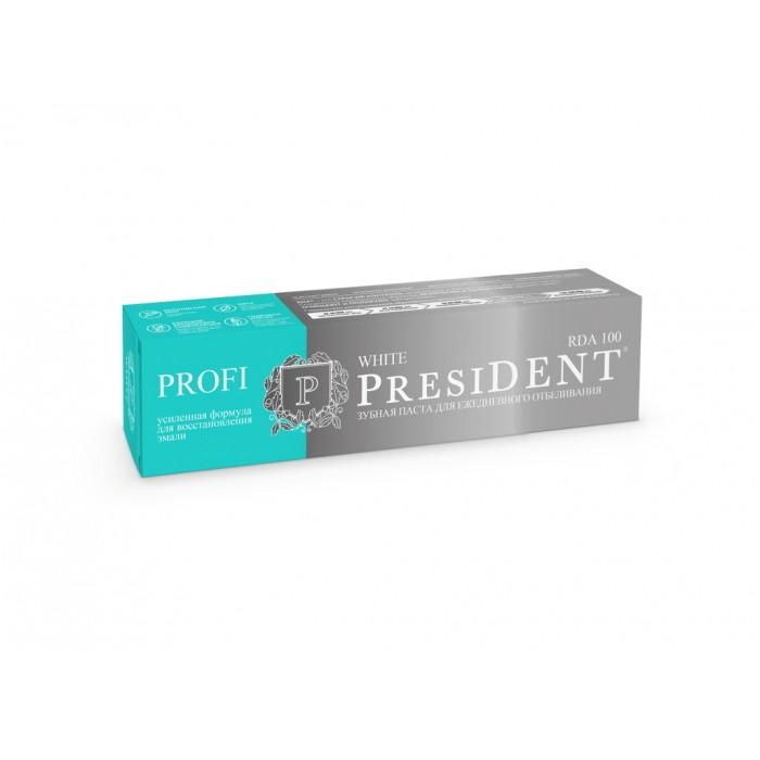 Зубная паста для ежедневного отбеливания Profi White, PresiDENT, 50 мл.
