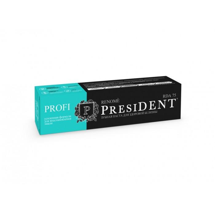 Зубная паста для здоровой белизны зубов и свежести дыхания Profi Renome , PresiDENT, 50 мл.