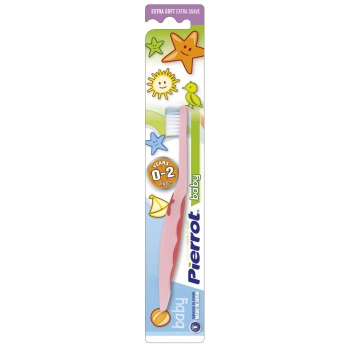 Детская зубная щетка Baby от 0-ля до 2-х лет, мягкая, Pierrot.