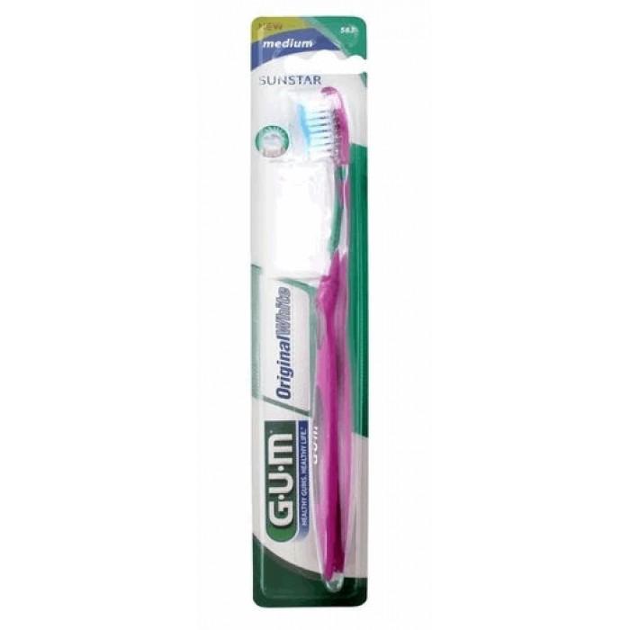 Зубная щетка Original White Medium (средней жесткости), GUM.