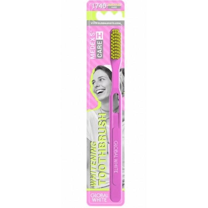 Зубная щетка с жесткой щетиной (1740 активных щетинок) Hard, Global White.