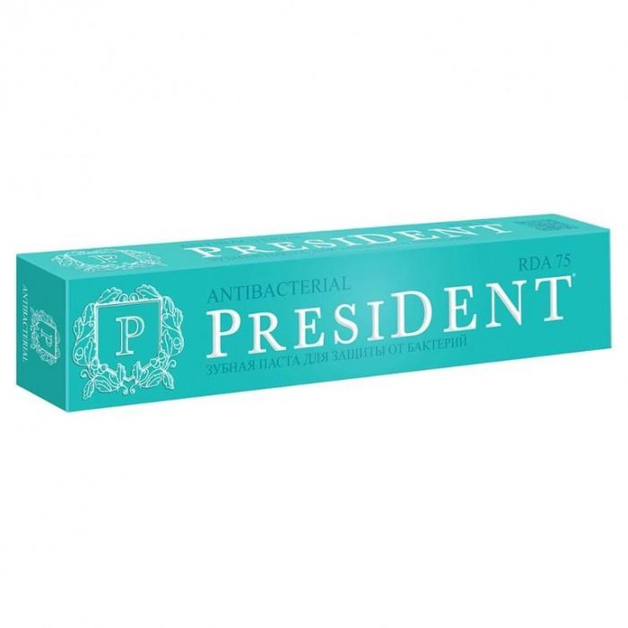Зубная паста для защиты от бактерий Antibacterial, PresiDENT, 50 мл.