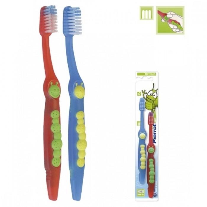 Набор детских зубных щеток Gusy от 2-х до 8-ми лет, Pierrot, 2 шт.