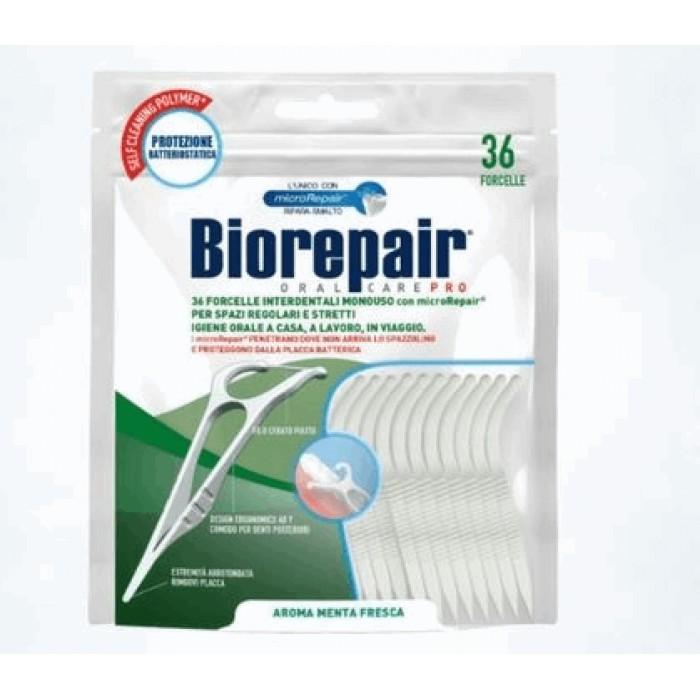 Зубная нить с держателем Dental FlossPick, Biorepair, 36 шт.