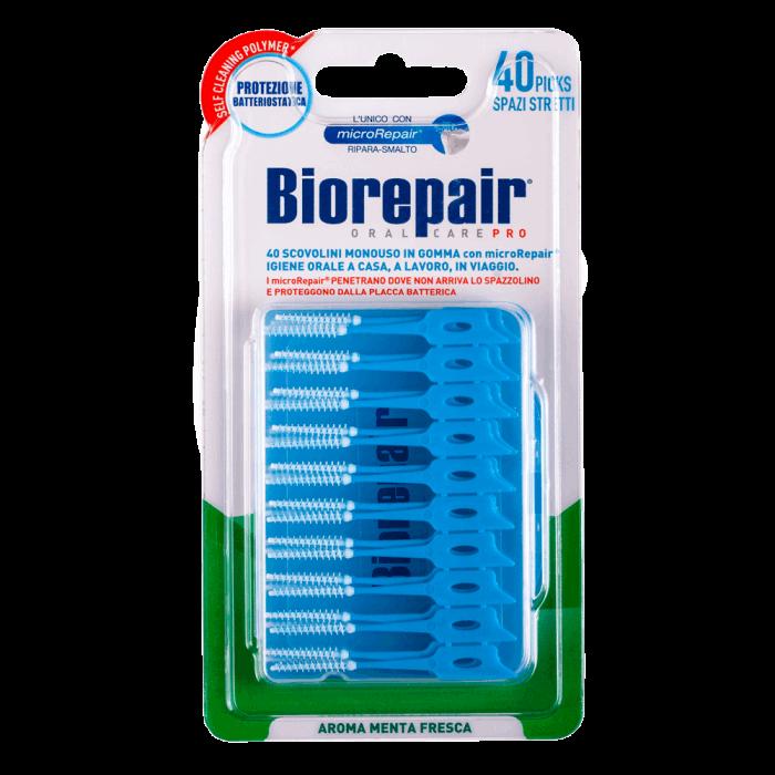 Зубные тонкие мягкие палочки Fine Soft Pick, Biorepair, 40 шт.