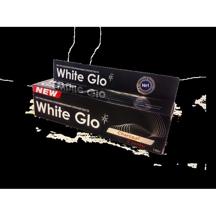 Зубная паста отбеливающая экстрасильная с углем, White Glo, 100 г.