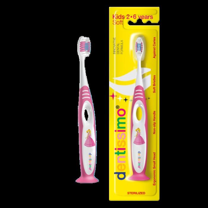 Детская зубная щетка от 2-х до 6-ти лет Toothbrush Kids Soft, Dentissimo.