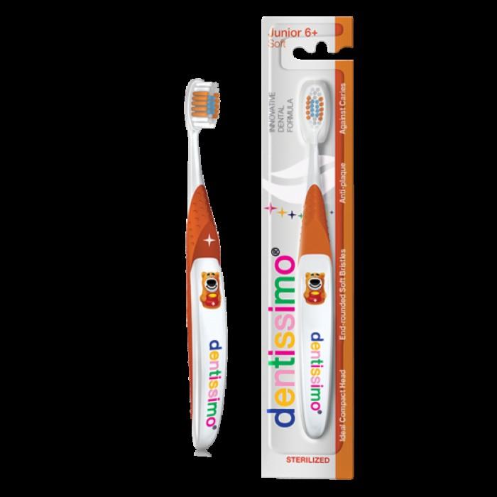 Детская зубная щетка с 6-ти лет Toothbrush Junior Soft, Dentissimo.