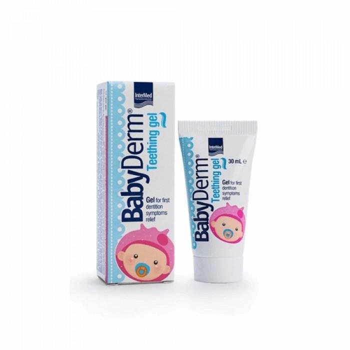 Гель для детей от 3-х месяцев при прорезывании зубов BabyDerm Teething gel, InterMed, 30 мл.