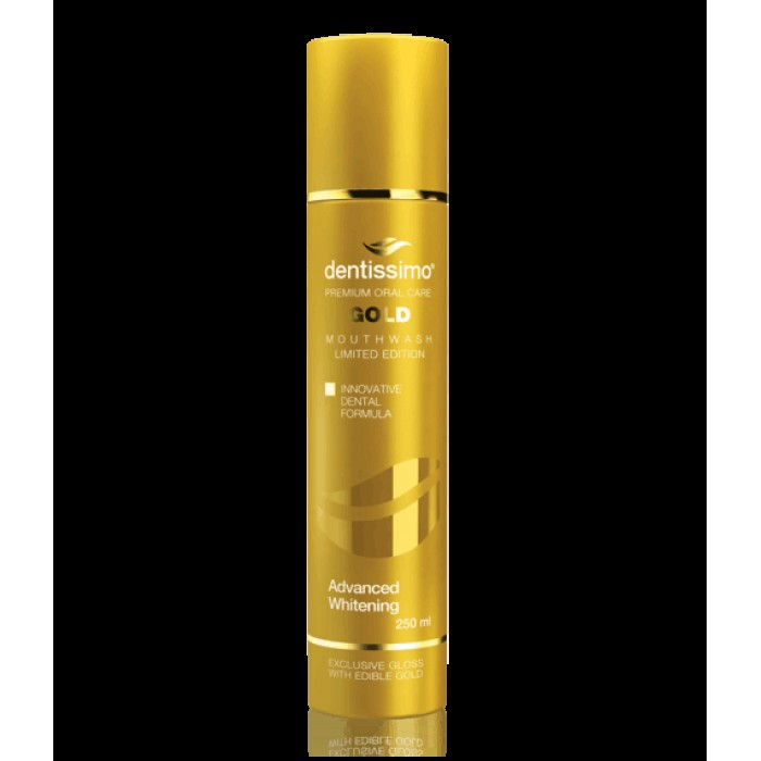 Ополаскиватель для полости рта Gold Advanced Whitening, Dentissimo, 250 мл.