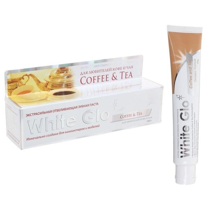 Зубная паста отбеливающая для любителей кофе и чая Coffee & Tea, White Glo, 100 г.