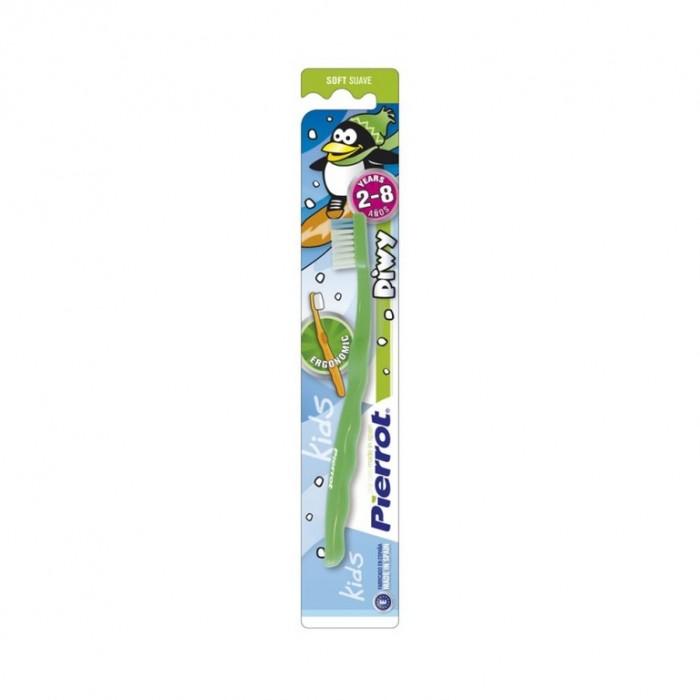 Детская зубная щетка от 2-х до 8-ми лет, мягкая, Piwy, Pierrot.