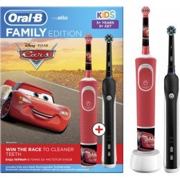 Детская зубная щетка Oral-B Stages Cars + Oral-B Pro 750 Black
