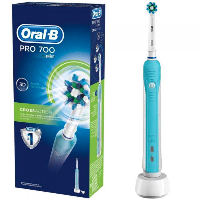 Зубная щетка Oral-B D16 PRO 700 Сross Action 3 насадки