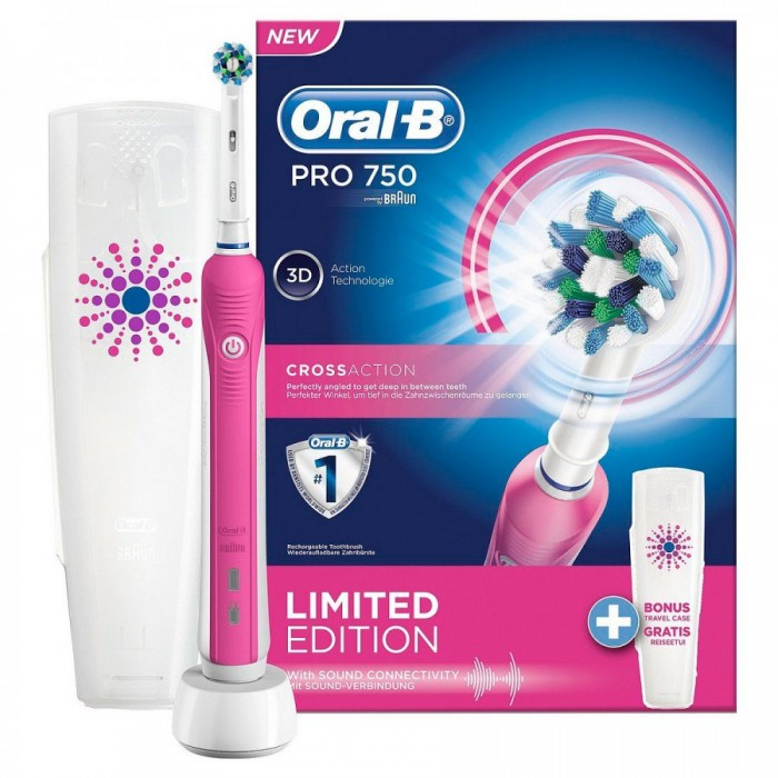 Зубна щітка Oral-B D16 PRO 750 Pink Cross Action 1 насадка