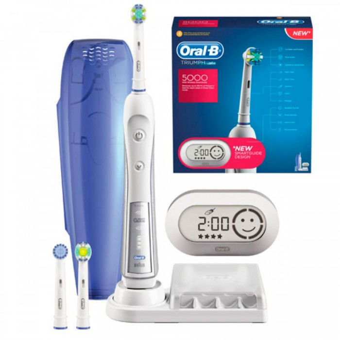 Зубная щетка Oral-B Triumph D34/5000 Smart Guide 7 насадок