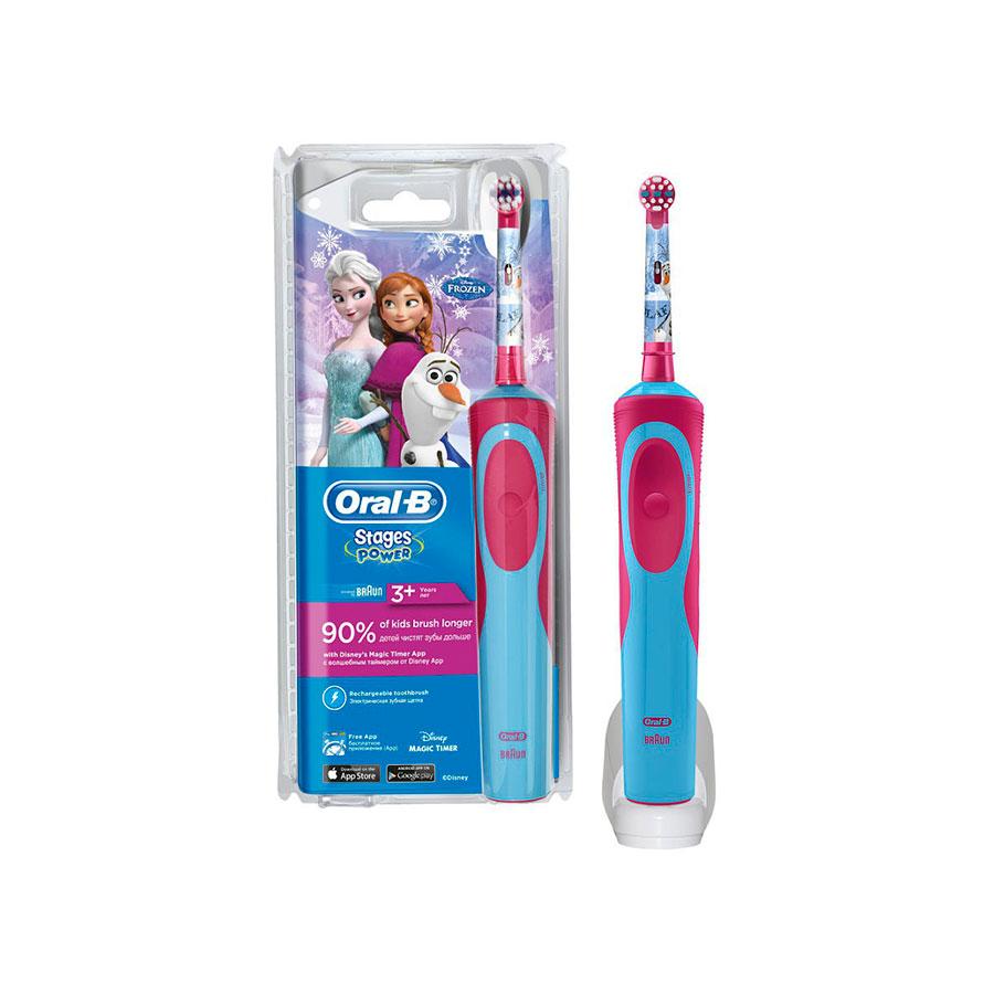Дитяча зубна щітка Oral-B D12.513K Stages Frozen 2 насадки ac03a588489c6